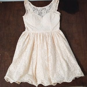 Chi Chi London Pink Lace Bow Back Dress
